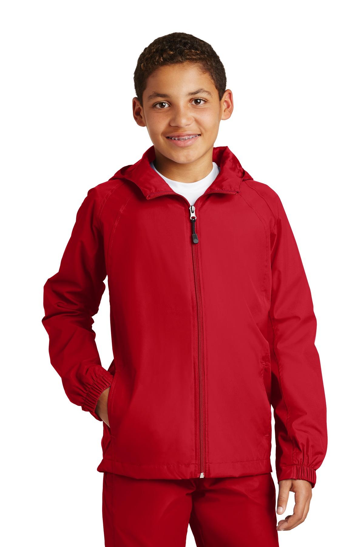 d977f4e05 Sport-Tek ® Youth Hooded Raglan Jacket. YST73