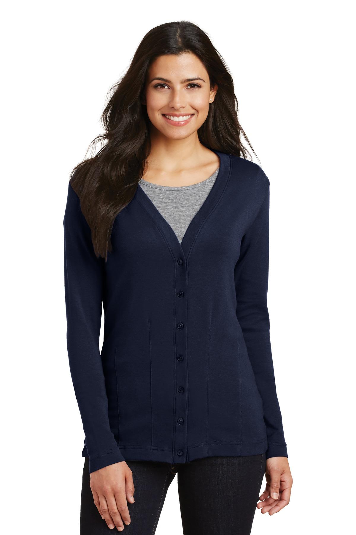 69ecf9937 Port Authority ® Ladies Modern Stretch Cotton Cardigan. L515