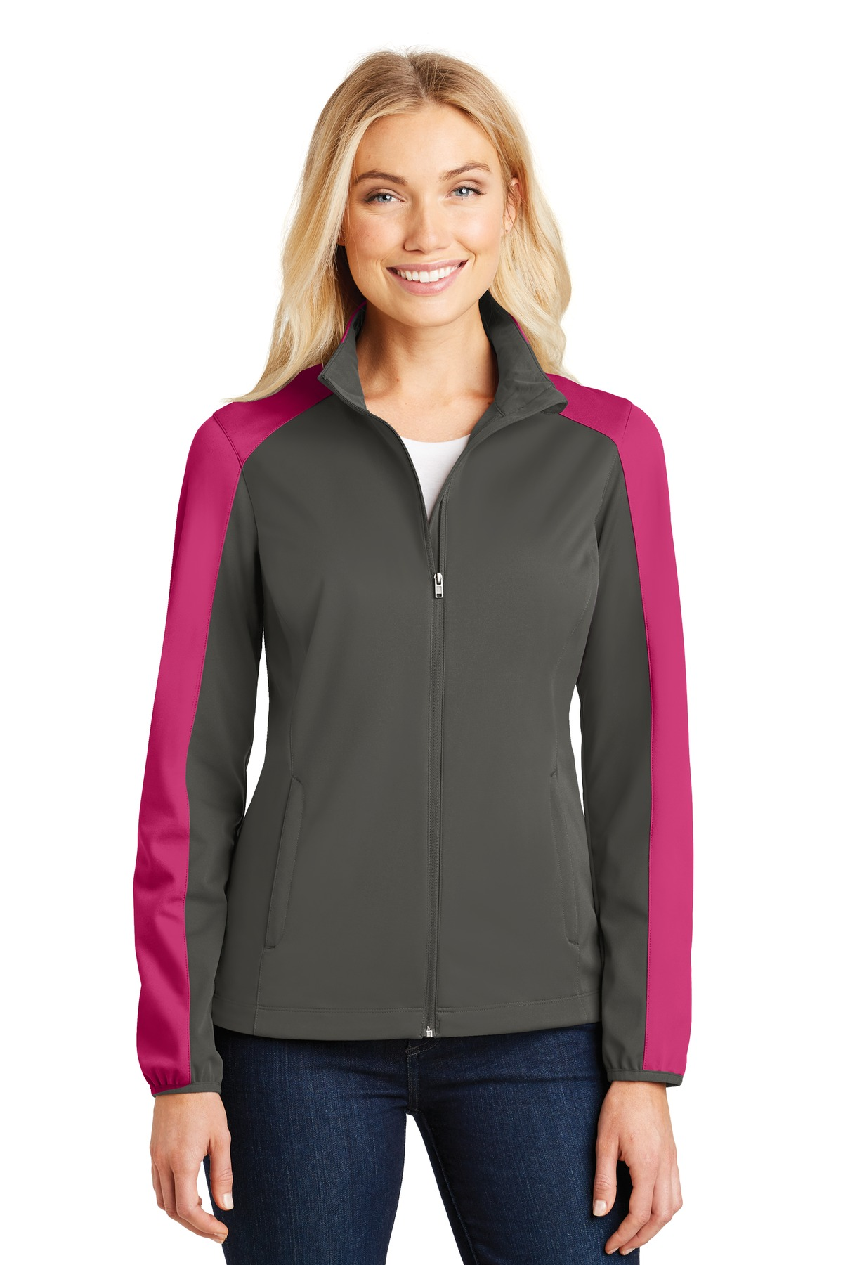 49b952f6988 Port Authority ® Ladies Active Colorblock Soft Shell Jacket. L718